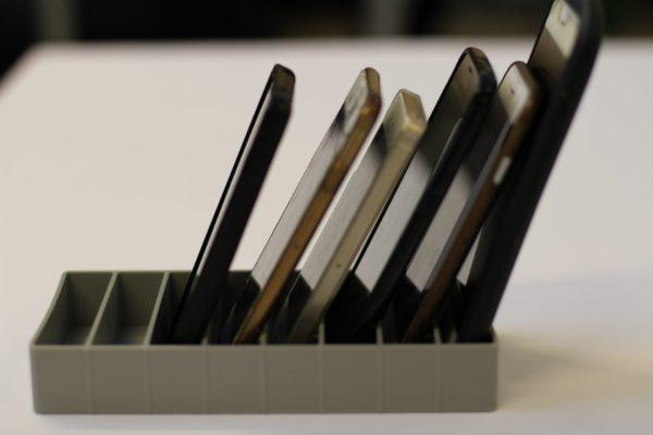 opbevaring af mobiltelefoner